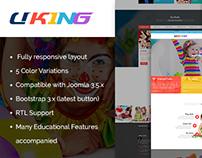SJ Uking - Adorable Joomla Template For Kindergarten