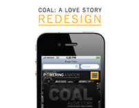 Coal: A Love Story | Website Redesign | Spring 2016