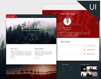 Web UI Design for Photographer