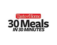 Digital Design   Taste of Home 30 Meals in 30 Minutes