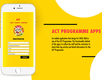 ACT Programmes Apps UI design.