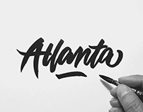 Cities | A Brush-Type Lettering Series.