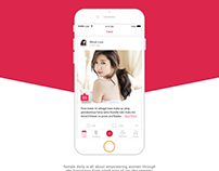 Female Daily Mobile App Design