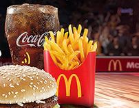 McDonald's BIG MAC MENU SPORTS FAN CAMPAIGN
