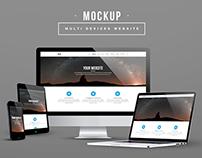Multi Devices Display Mockup