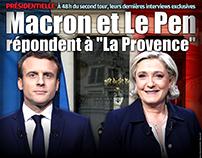"""Macron et Le Pen répondent à """"La Provence"""""""