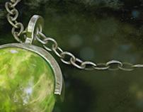 Jade Jewelry Necklace Rendering