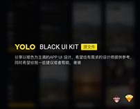 YOLO BLACK UI KIT分享[sketch源文件]