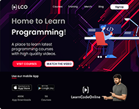 Landing page of an Edtech Startup