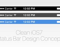 Clean iOS7 Status Bar Design Concept
