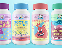 Label Illustrations for Pet Supplements