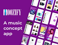 Moozify - Music App UI/UX Design Project