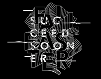 Fail faster typography poster