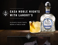 Casa Noble Nights - promotional microsite