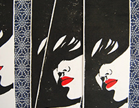 marque-page - ex-libris linogravé