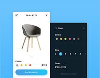 Shop app concept