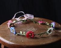 Iluminacion- corona de flores