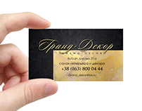 "Business card and flyers store ""Grand Decor"""