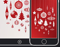 Christmas Baubles - Inverted & Gradient Wallpaper