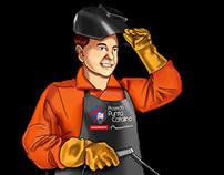 Ilustración para uniformes industriales