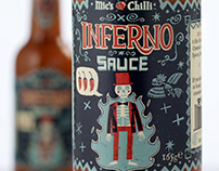 Inferno Sauce Packaging