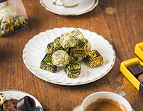 Blum's Chocolate brand identity and design