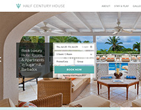 Barbados Luxury Hotel Landing Page