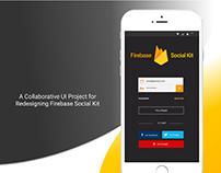 UI / UX and BrandingDesign for Firebase Social Kit