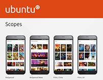 Ubuntu Scopes mobile view
