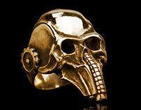 Gold skull ring   TYVODAR