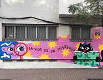 Mural corporación cultura USACH