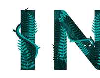'INDO' Typographic Illustration