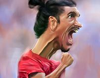 digital caricature for ibrahimovic