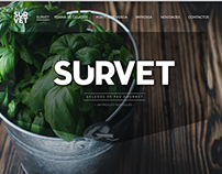 SURVET · gourmet popsicle
