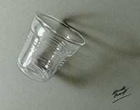 Glass or plastic? 3D drawing