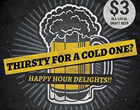Beer Promotion Happy Hour Flyer Template v2