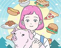 BOY & GIRL & PIG