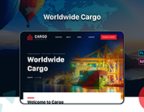 Cargo Transport Website | Landing Page | UX UI Design