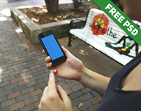 Free Realistic iPhone Mockup