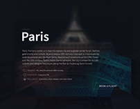 Paris Airbnb card design