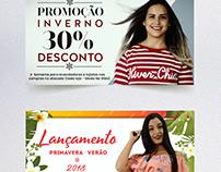 Banners promocionais (Moda)