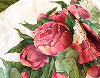 Design women's shirt / Роспись женской рубашки