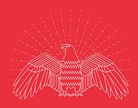 4th of July 2015 - Line art bald eagle.