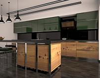 Kitchen design_ Design & Visualization