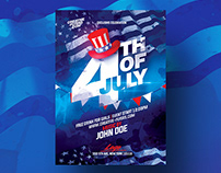 4th Of July Flyer Template - Adobe Photoshop