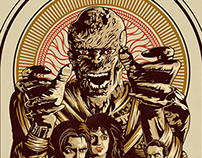 Graphic illustration of the movie The Mummy