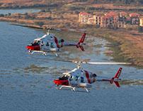Bell 222 Air-to-Air