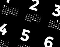 Minimal Moon Calendar 2018