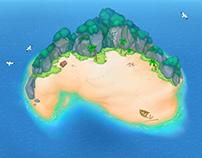 Sand atoll (2D)