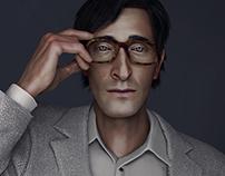 Adrien Brody 3D portrait